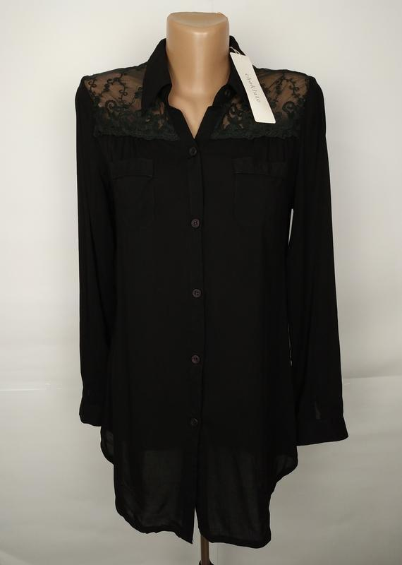 Блуза новая стильная с кружевной спинкой размер uk 12/40/m