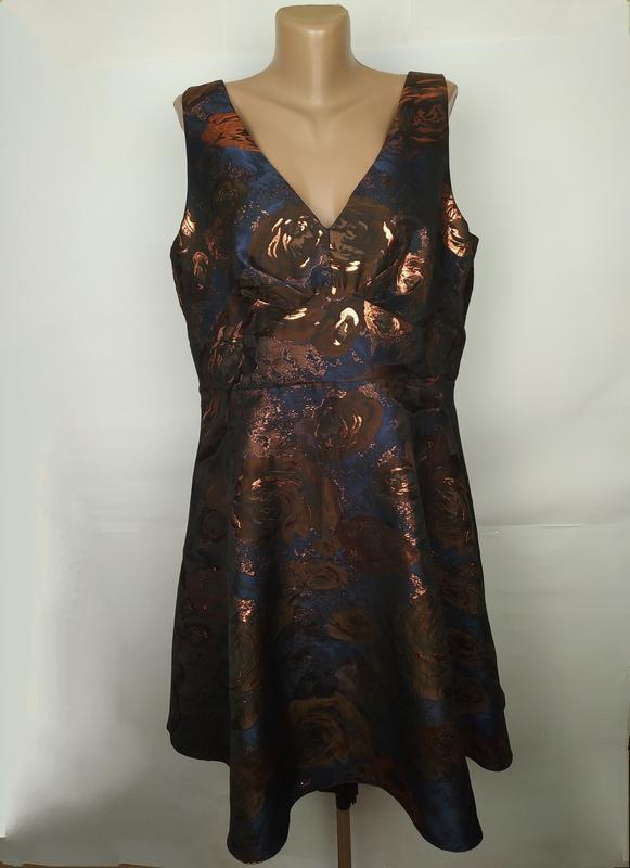 Платье вечернее новое шикарное порча большой размер uk 18/46/xxl