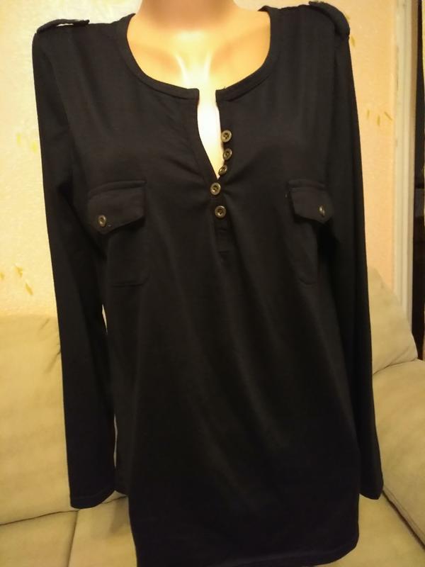 Стильная трикотажная рубашка размер 54-56
