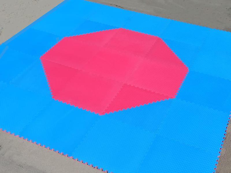 Корт (додянг) восьмиугольный для тхэквондо ВТФ синий/красный (...