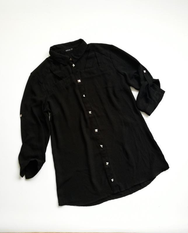 Черная шифоновая блуза mohito