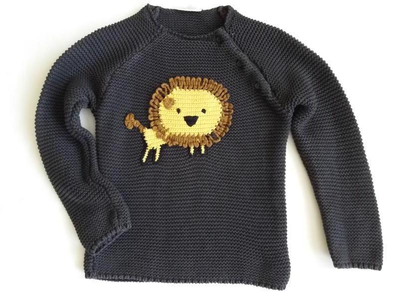 Детский свитер 1-2 года , кофта со львом