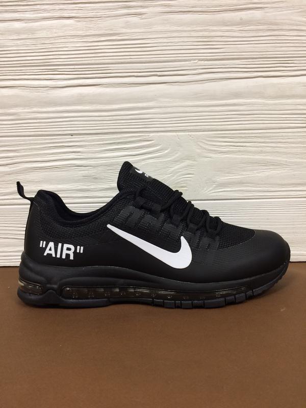 Крутые мужские кроссовки air max 97 чёрные ! распродажа послед...