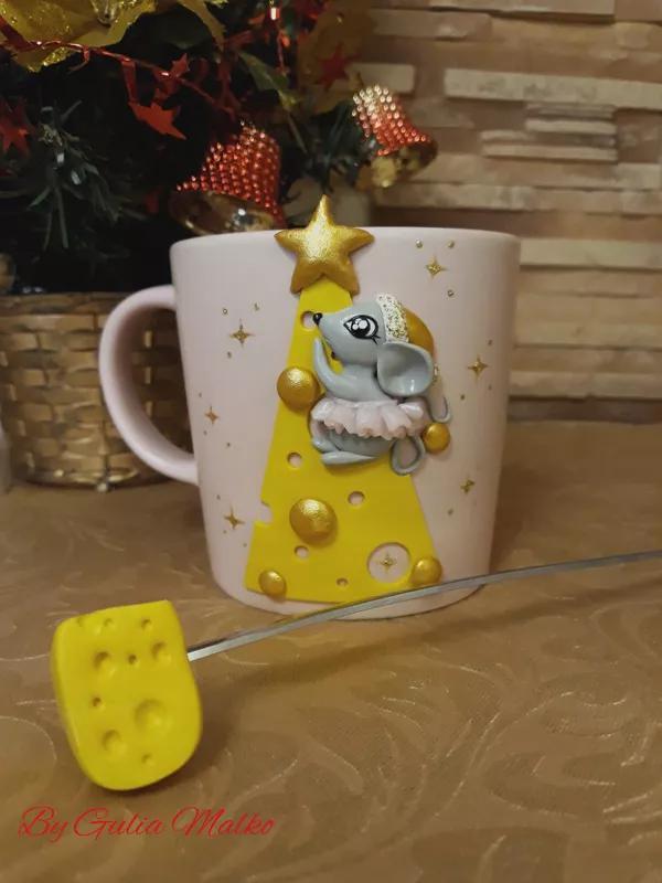 Новогодние чашки и ложки