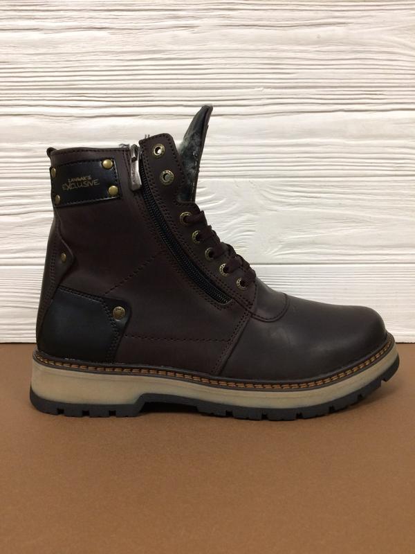 Мужские зимние кожаные ботинки zangak! распродажа последних ра...