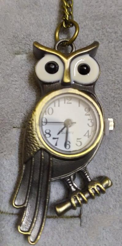 Часы-куклон Сова на цепи