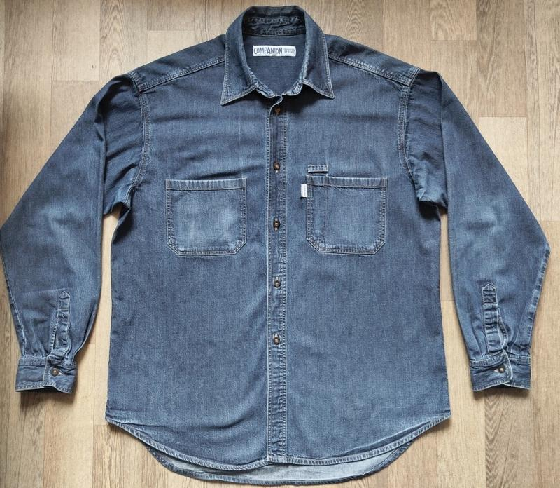Джинсовая мужская рубашка Companion, размер XXL