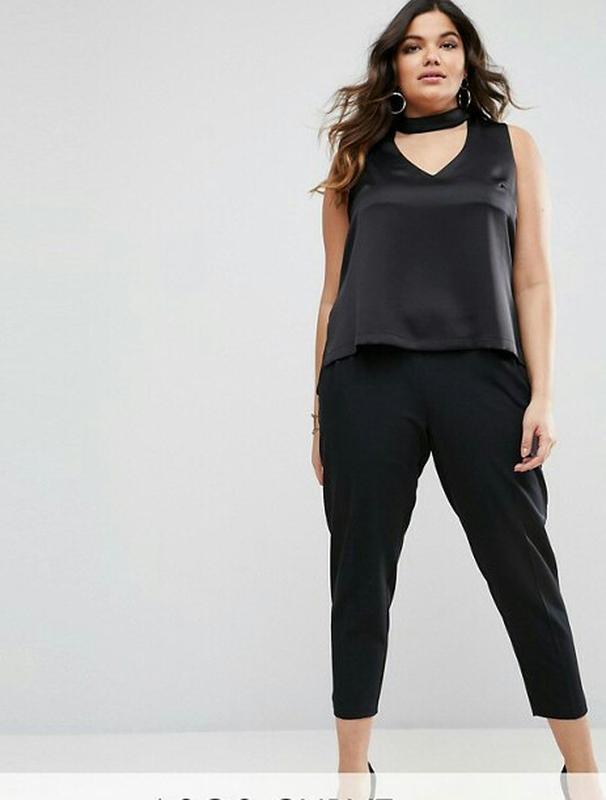 Зауженные укороченные брюки primark размер 14