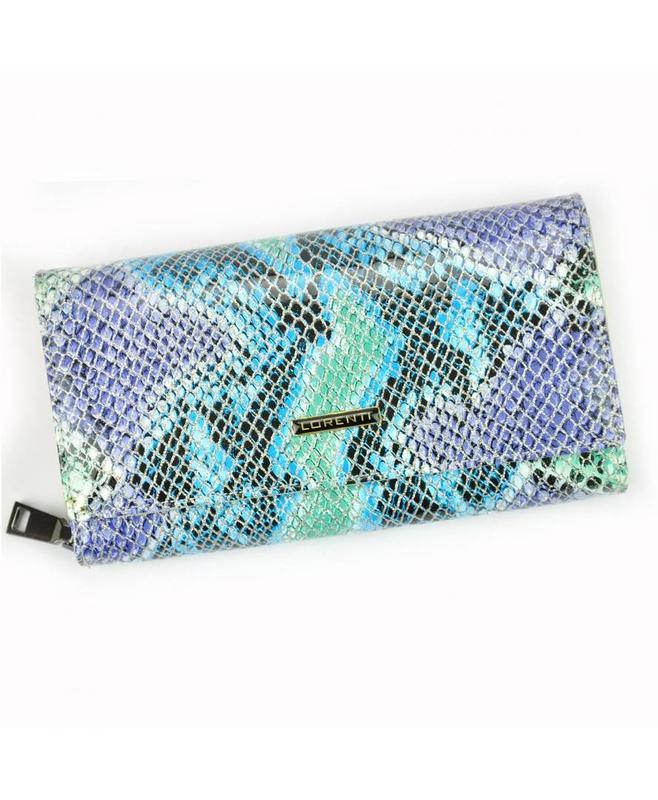 Женский кожаный кошелек lorenti 76111-sm snake rfid