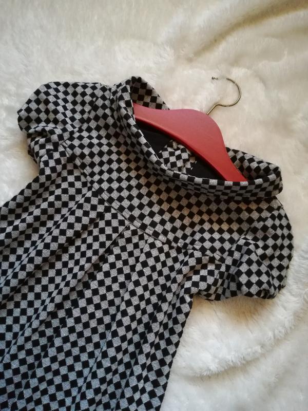 Платье трапеция из фактурного трикотажа размер 36 mango
