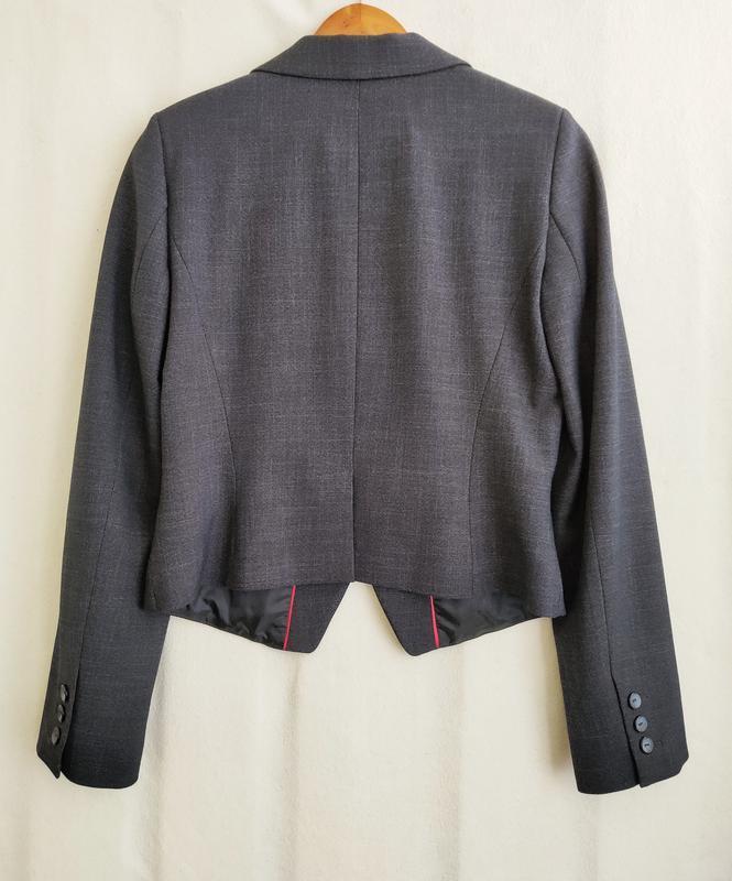 Новый тёмно-синий пиджак next - Фото 2