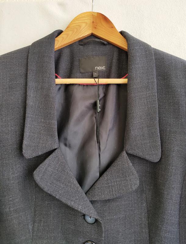 Новый тёмно-синий пиджак next - Фото 3
