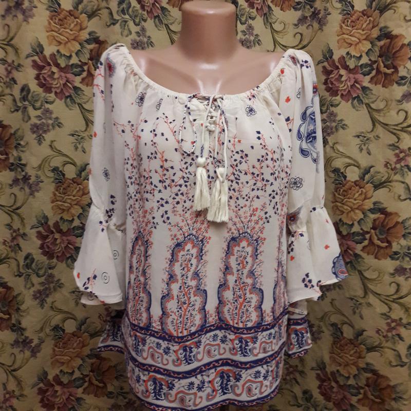 Блуза а-ля вышиванка 46-48