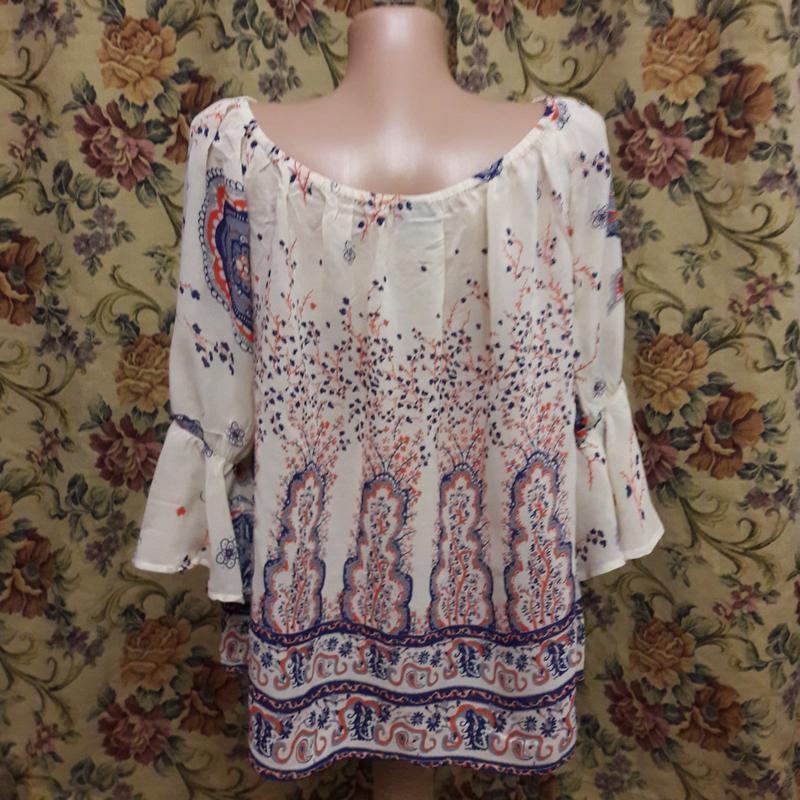 Блуза а-ля вышиванка 46-48 - Фото 2