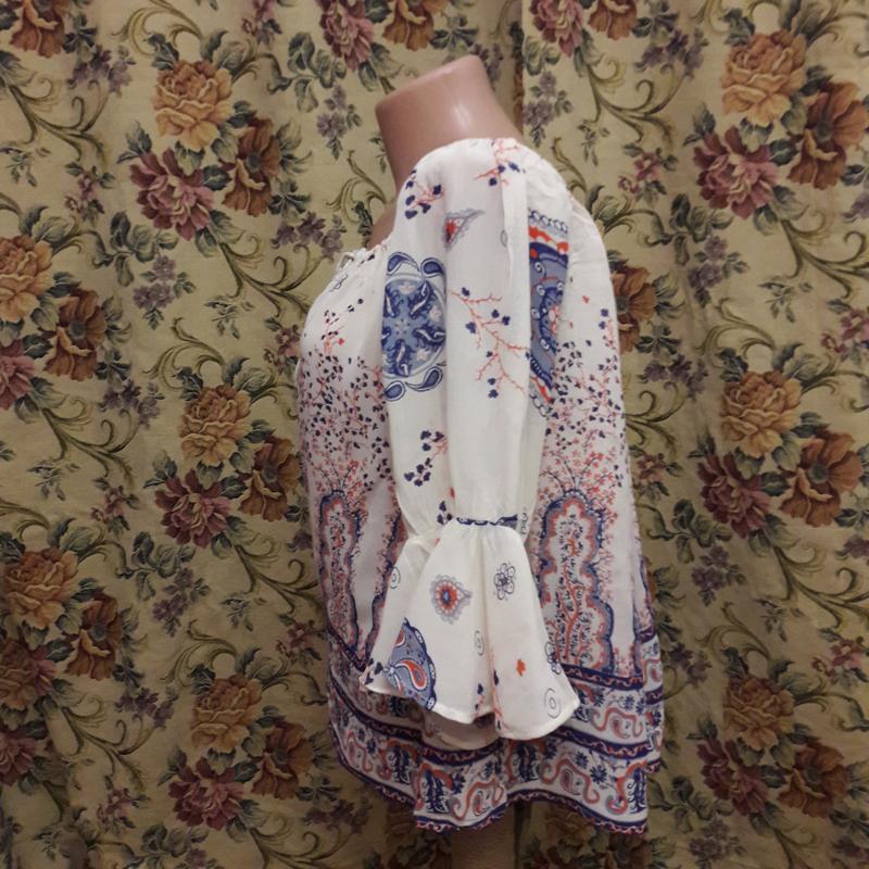 Блуза а-ля вышиванка 46-48 - Фото 3
