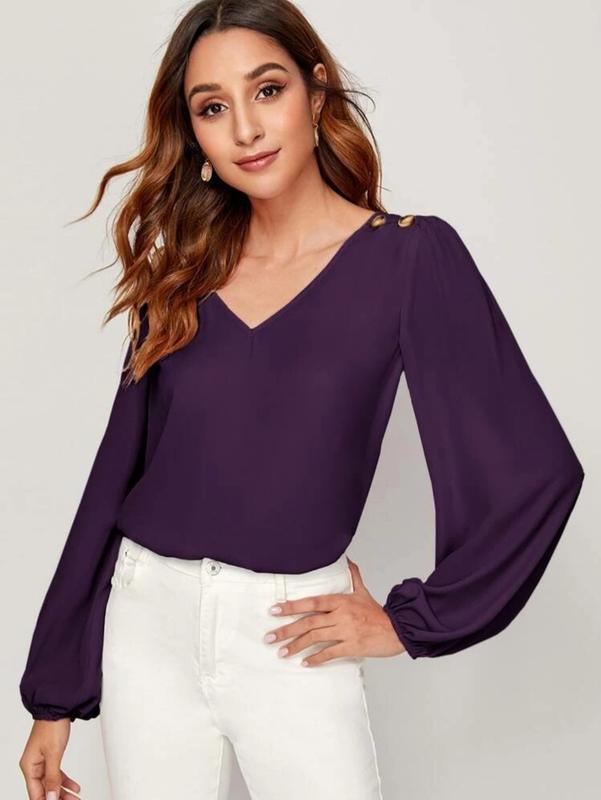 Блуза с рукавами на резинке