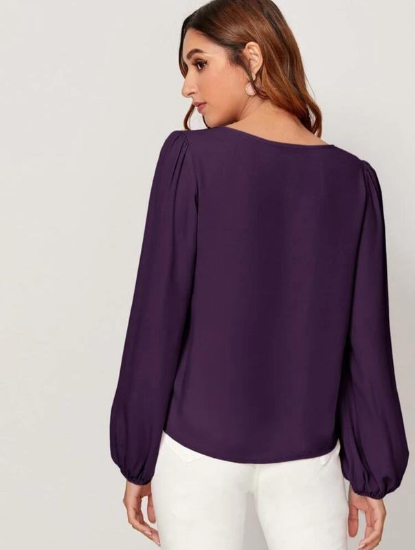 Блуза с рукавами на резинке - Фото 2