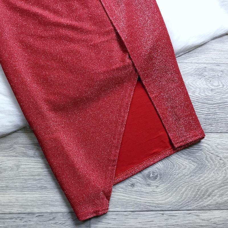 Нарядное платье с люрексом - Фото 3