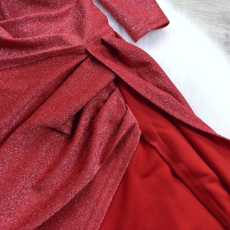 Нарядное платье с люрексом - Фото 4