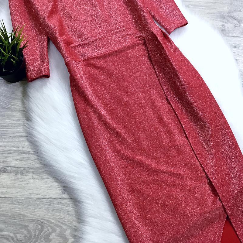 Нарядное платье с люрексом - Фото 5