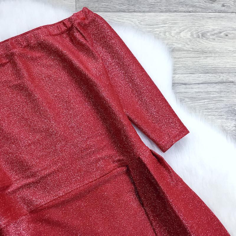 Нарядное платье с люрексом - Фото 6