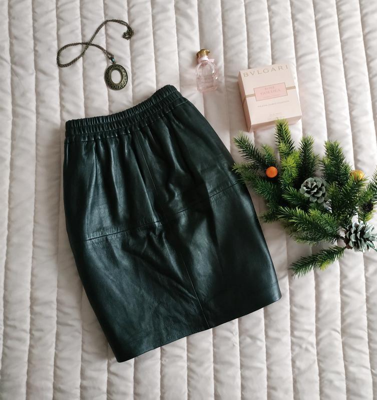 Кожаная юбка (100% натуральная кожа)