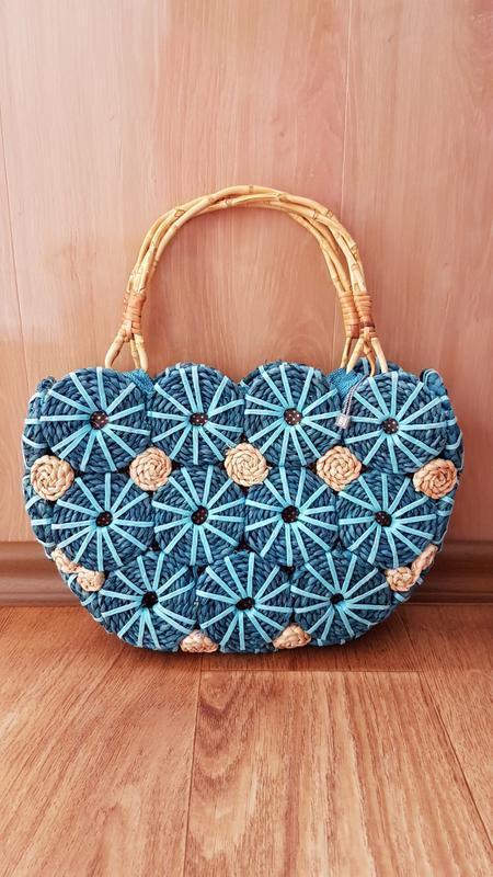 Плетеная сумка с деревянными ручками от per una