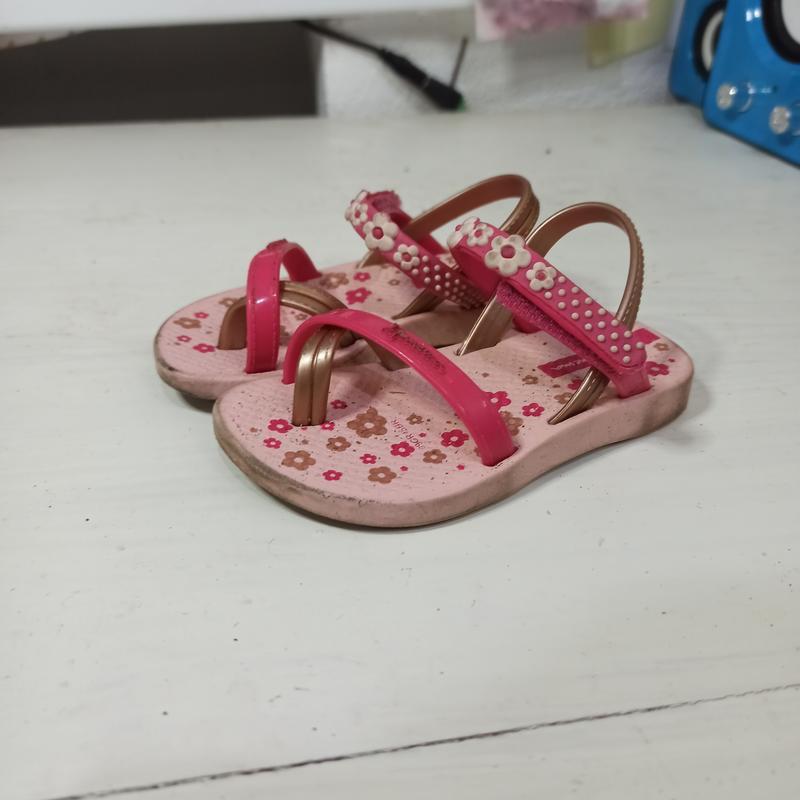 Детские босоножки на девочку маленькие розовые летние   длина ...