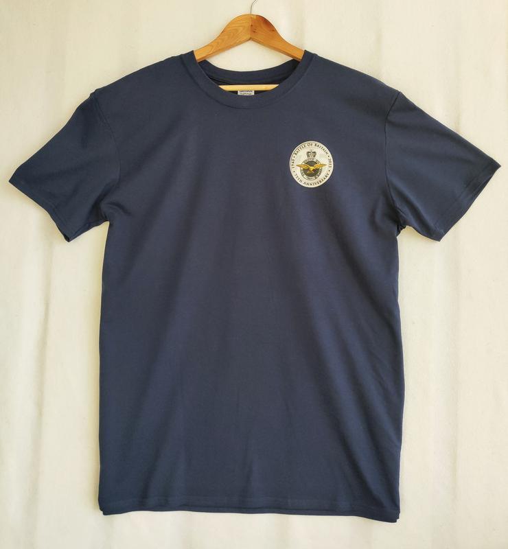 Бесшовная тёмно-синяя футболка gildan