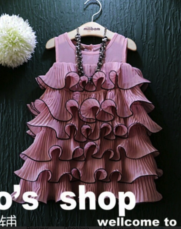Распродажа плиссированное платье с воланами рюшами