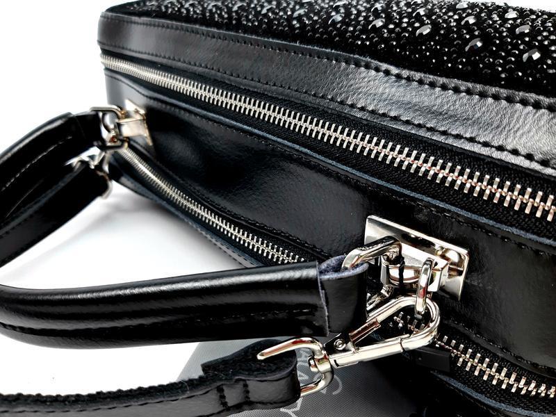 Женская кожаная сумка galanty темно-коричневая (шоколад) - Фото 3