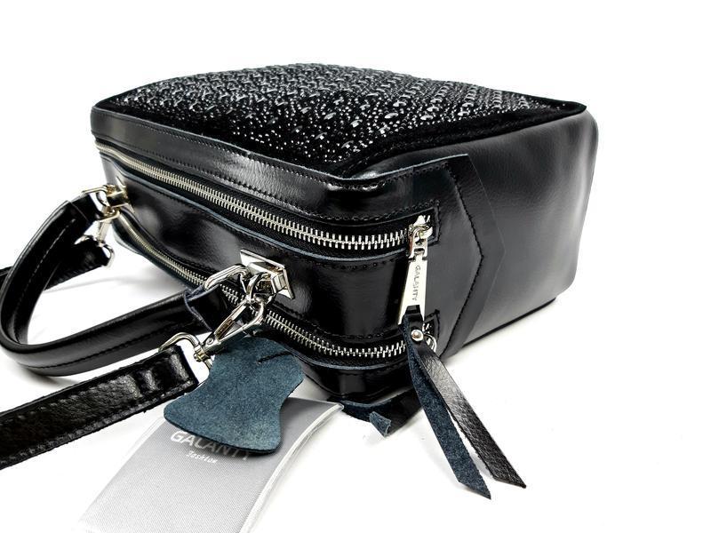 Женская кожаная сумка galanty темно-коричневая (шоколад) - Фото 4