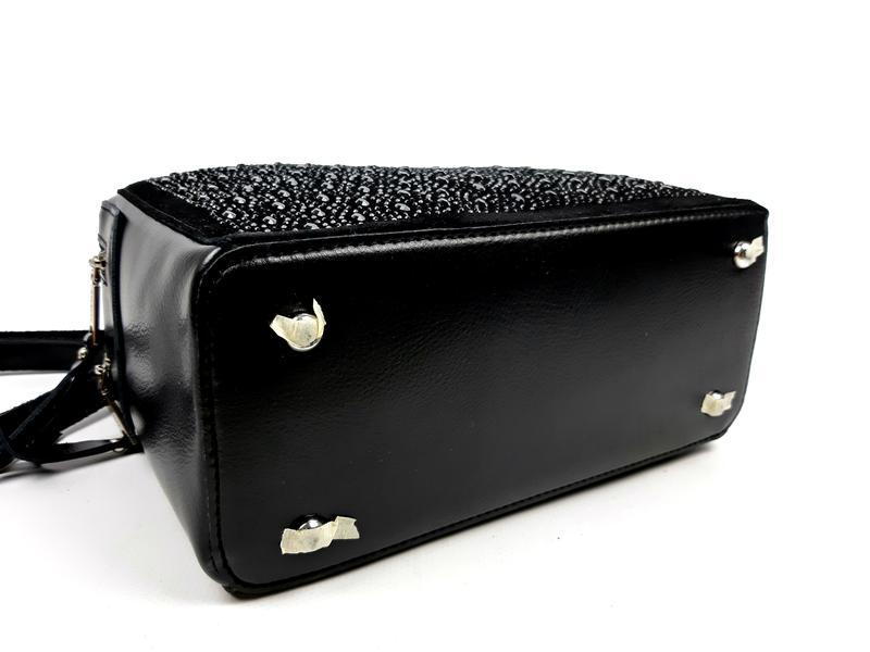 Женская кожаная сумка galanty темно-коричневая (шоколад) - Фото 7