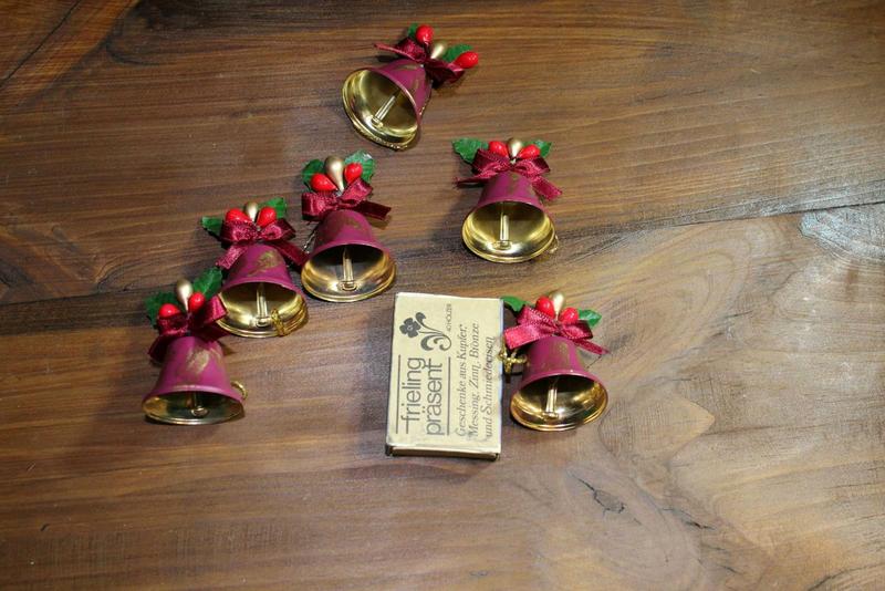 Антикварные новогодние игрушки колокольчики для елки набор Герман - Фото 6