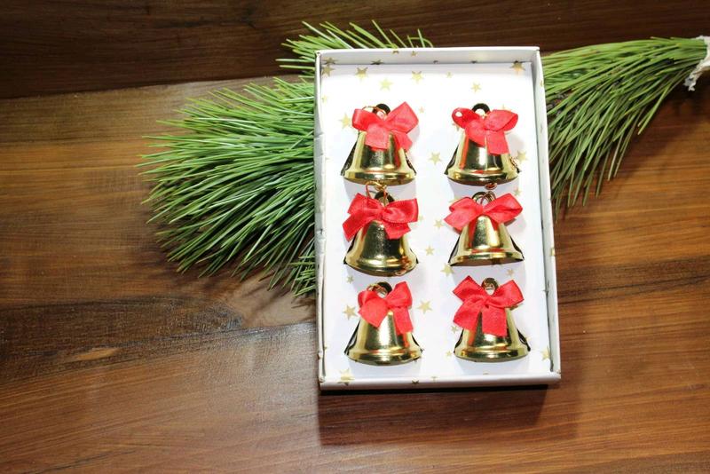 Антикварные новогодние игрушки колокольчики для елки набор