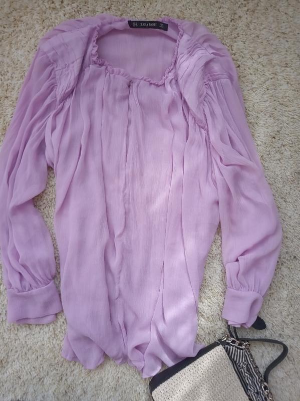 Легкая шифоновая блуза блузка zara