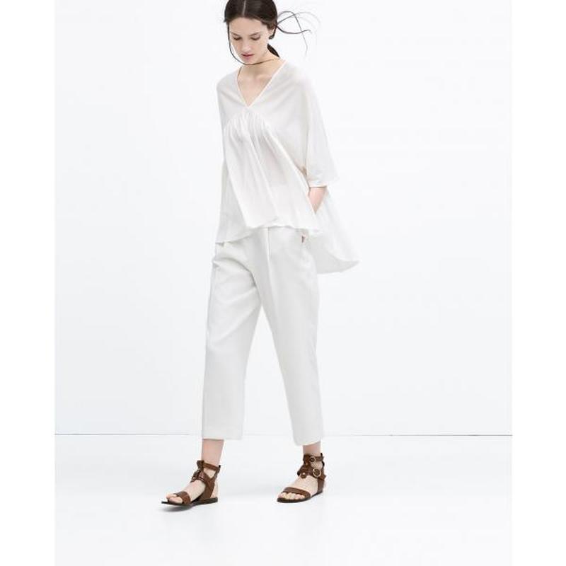 Легкая оверсайз блуза в бохо стиле лиоцелл zara