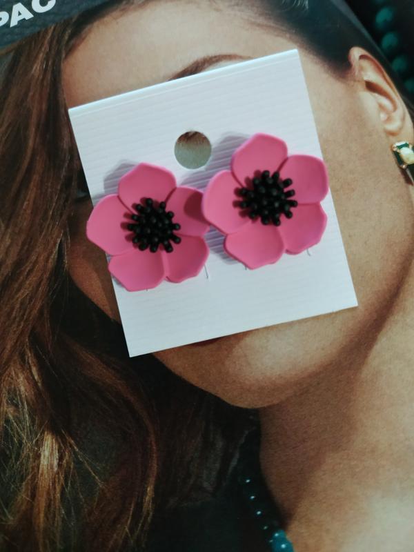 Нежные серьги гвоздики цветок - Фото 2