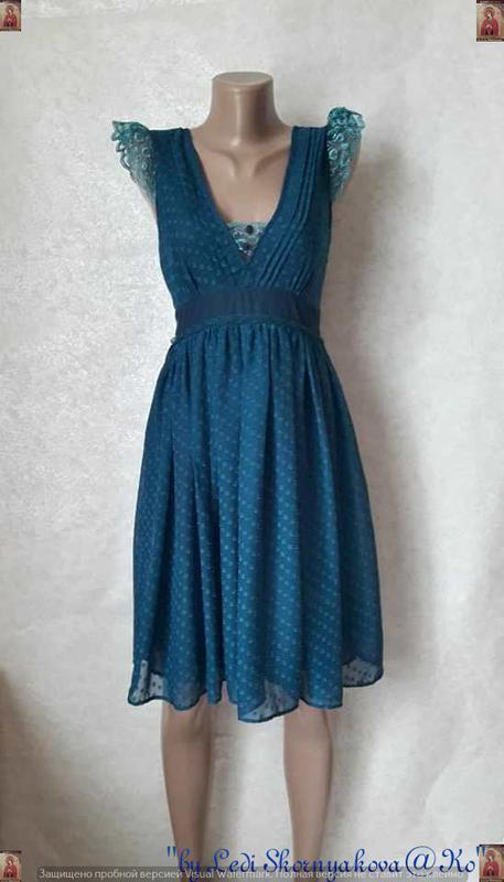 Фирменное asos шифоновое платье-миди с кружевными рукавчиками ...