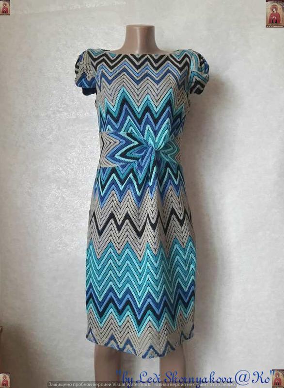 Новое нарядное красивое кружевное платье миди в бирюзовом цвет...