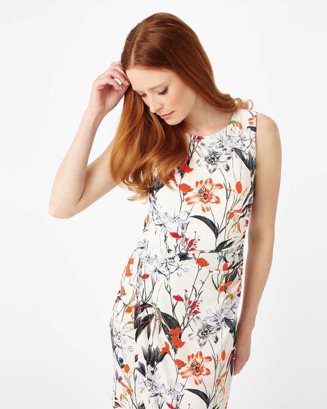Драпированное платье цветочный принт phase eight