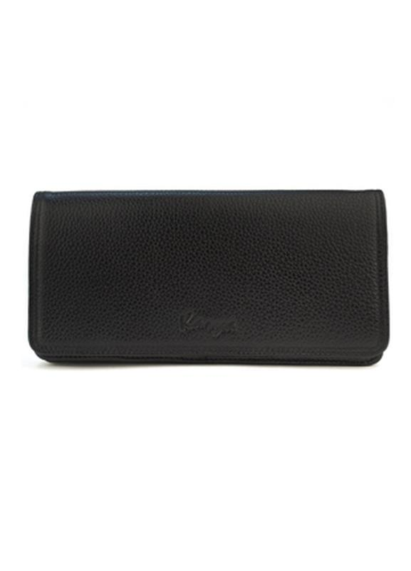 Женский кожаный кошелек karya черный