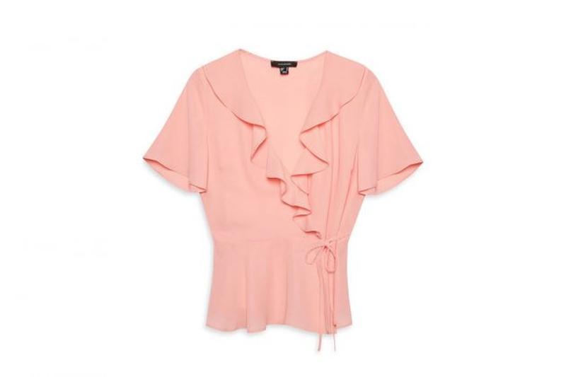 Нежная розовая блуза с завязками atmosphere, р.14, м-ка, на на...