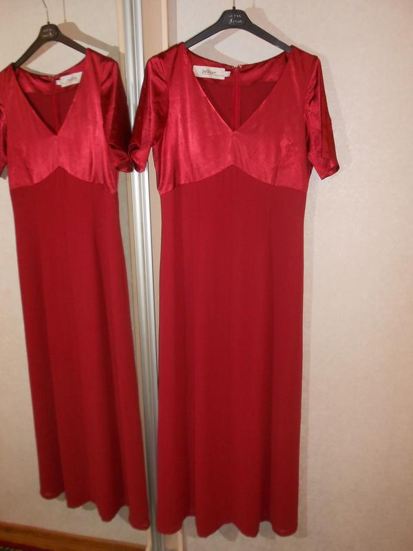 Inwear красивое нарядное макси платье бордового оттенка, р.14-...
