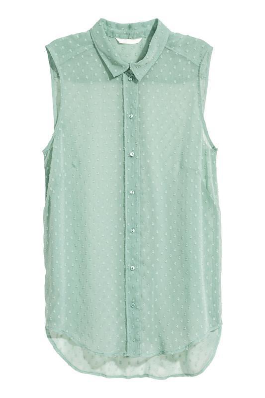 Акция до нового года! №106 рубашка майка блуза безрукавка от h&m