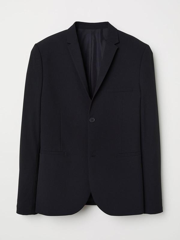 Мужской чёрный  итальянского качества пиджак