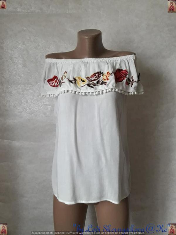 Фирменная f&f вышиванка/блуза/футболка со 100 % вискозы с выши...