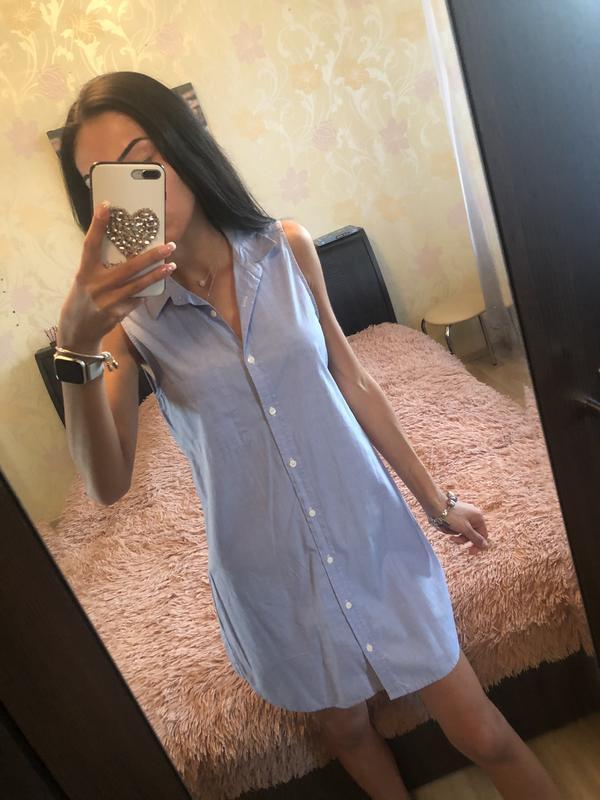 Легкое платье рубашка xs/s !!! h&m