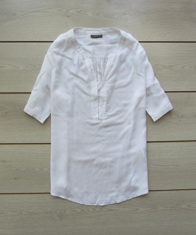 Акция до нового года! №137 воздушная легкая блуза рубашка удли...