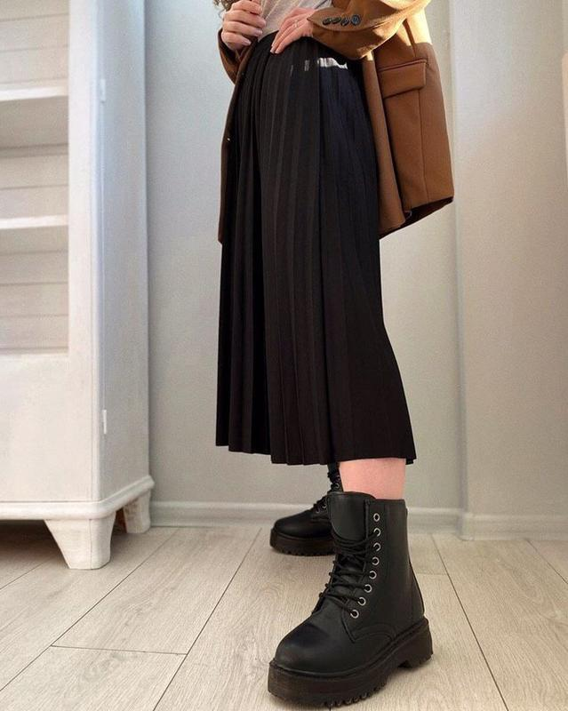 5 цветов! черная юбка плиссе